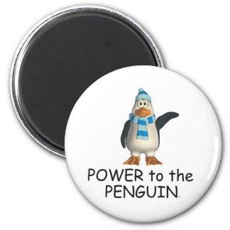 Poder de la CAMISETA al pingüino Imán Redondo 5 Cm