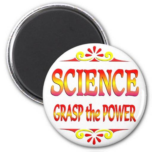 Poder de la ciencia imanes de nevera