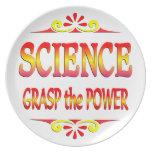 Poder de la ciencia plato de cena