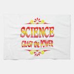 Poder de la ciencia toalla de cocina