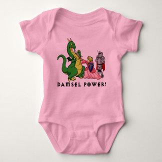 Poder de la damisela playeras