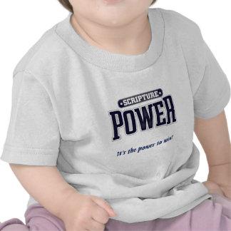 Poder de la escritura azul camiseta