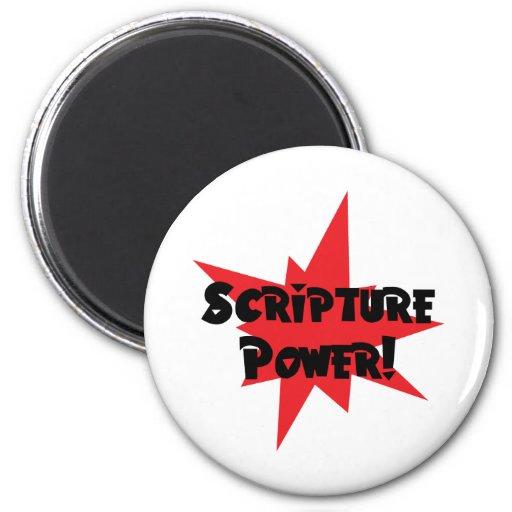 Poder de la escritura imanes de nevera