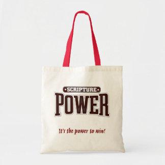 Poder de la escritura tote bolsas de mano