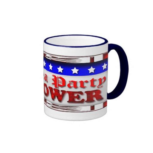 Poder de la fiesta del té taza de café