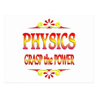 Poder de la física tarjetas postales