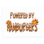 Poder de la hamburguesa postales