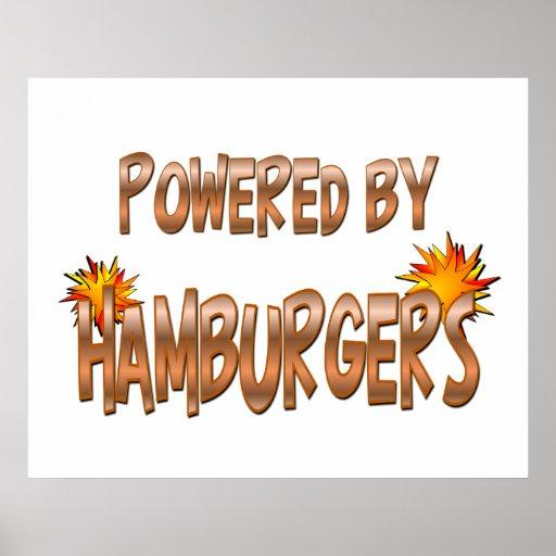 Poder de la hamburguesa póster