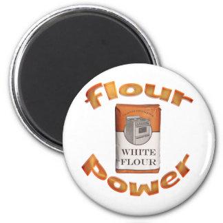 Poder de la harina imán redondo 5 cm