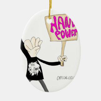 Poder de la mano ornaments para arbol de navidad