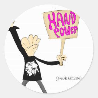 Poder de la mano pegatina