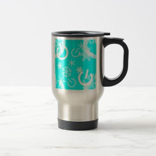 Poder de la maravilla del invierno tazas de café