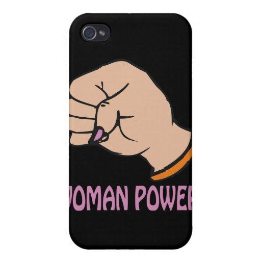 Poder de la mujer iPhone 4 carcasas