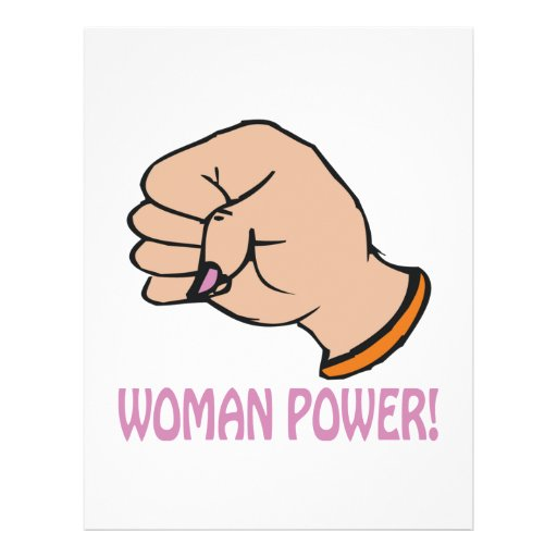 Poder de la mujer tarjetones