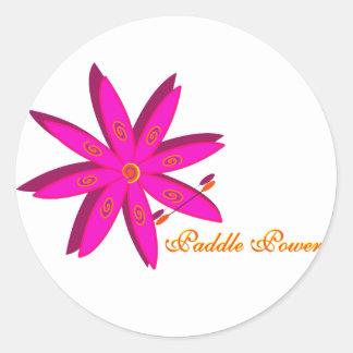 Poder de la paleta (rosa) pegatina redonda
