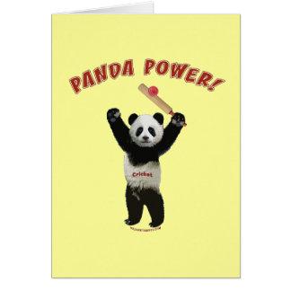 Poder de la panda del grillo felicitaciones