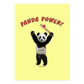 Poder de la panda del grillo tarjetas de visita