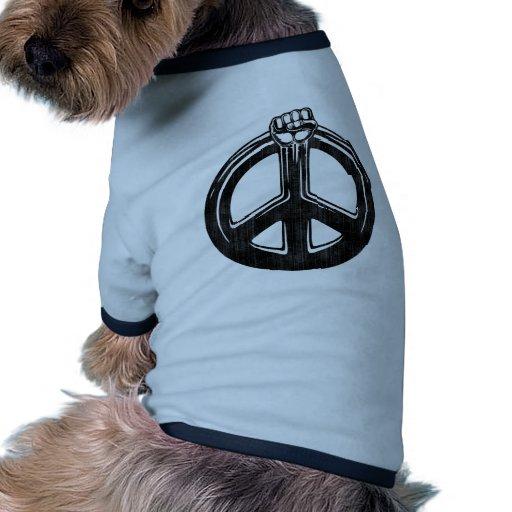 ¡Poder de la paz! Camiseta De Mascota