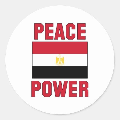 Poder de la paz pegatina redonda