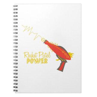Poder de la pistola de Rocket Libro De Apuntes