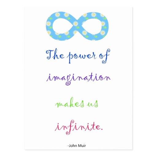 Poder de la postal de la inspiración del infinito