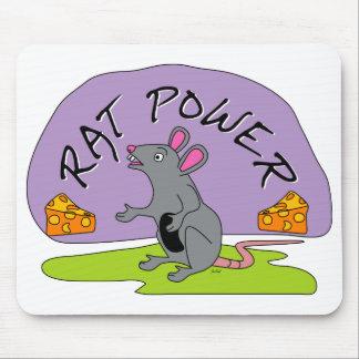 Poder de la rata alfombrilla de ratones