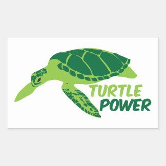 Poder de la tortuga con la tortuga verde rectangular altavoz