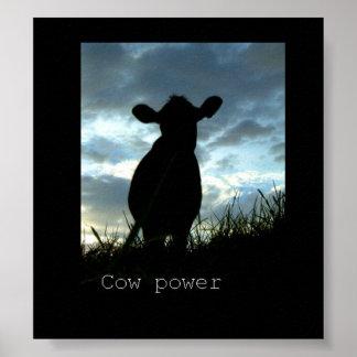 poder de la vaca póster