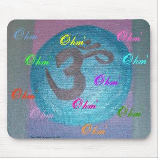 Poder de la yoga de Ohm Tapete De Ratones