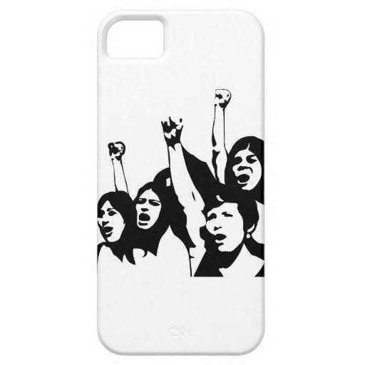 Poder de las mujeres iPhone 5 protectores