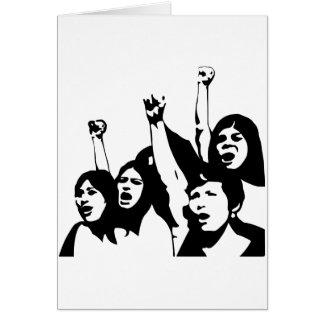 Poder de las mujeres tarjeta de felicitación