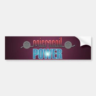 Poder de Microcoil Pegatina Para Auto