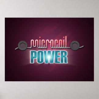 Poder de Microcoil Póster