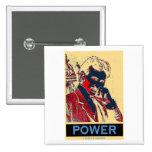 Poder de Nikola Tesla (Obama-Como el poster) Chapa Cuadrada 5 Cm