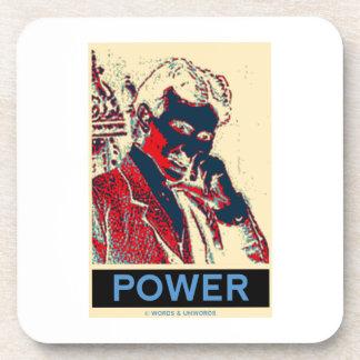 Poder de Nikola Tesla (Obama-Como el poster) Posavasos
