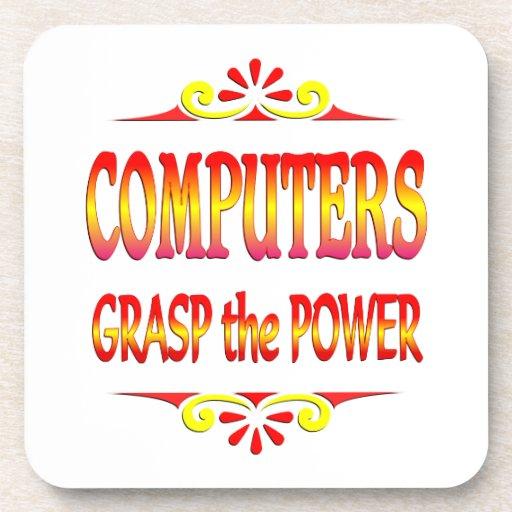 Poder de ordenadores posavasos de bebida