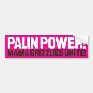 ¡Poder de Palin! ¡Mamá Grizzlies Unite! Pegatina De Parachoque