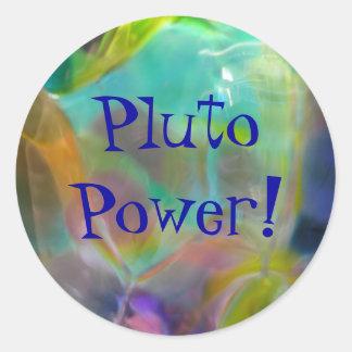 """""""Poder de Plutón!"""" pegatina"""