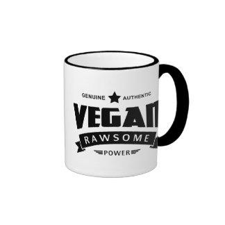 Poder de Rawsome del vegano Taza De Dos Colores