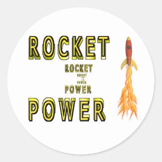 Poder de Rocket Pegatina Redonda