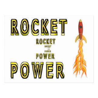 Poder de Rocket Tarjetas Postales