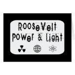 Poder de Roosevelt y blanco ligero Tarjeta