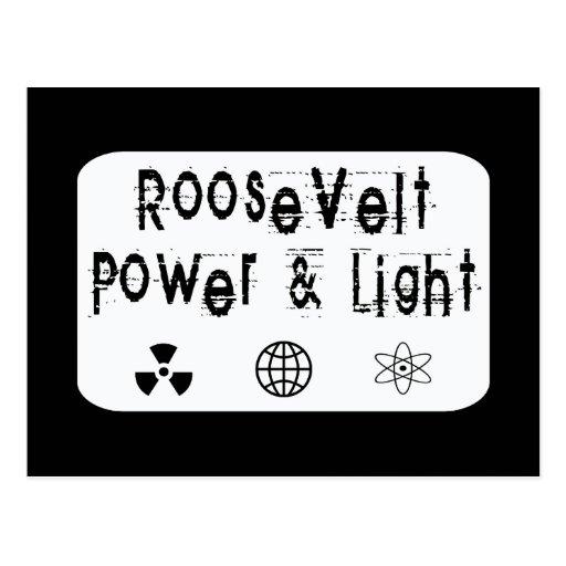 Poder de Roosevelt y blanco ligero Tarjetas Postales