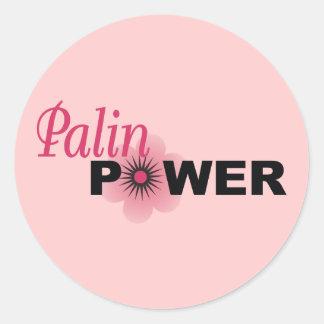 Poder de Sarah Palin Etiqueta Redonda