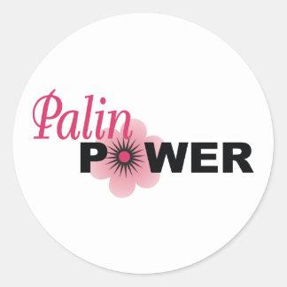 Poder de Sarah Palin Etiquetas Redondas