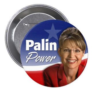 Poder de Sarah Palin Pin Redondo De 3 Pulgadas