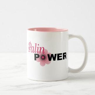 Poder de Sarah Palin Taza De Café De Dos Colores