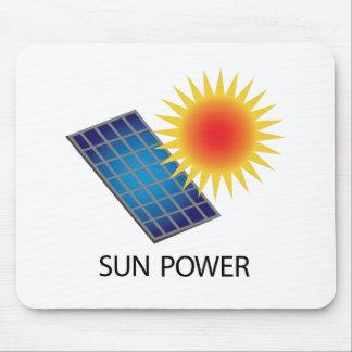 Poder de Sun Tapetes De Raton