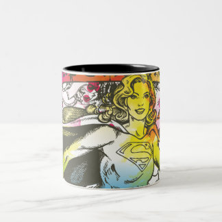 Poder de Supergirl Taza De Café De Dos Colores