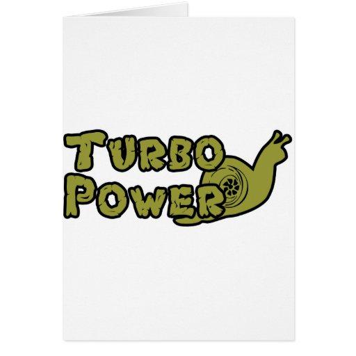 Poder de Turbo Felicitación